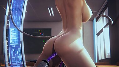 RALINA AFTER SCHOOL PART 2 [3D Sex Dream Machine Dildo Spanking]