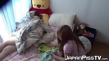 Cutie from Japan filmed wetting her bed at a sleepover