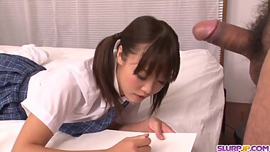 Naked Momoka Rin amazing bedroom sex with a teacher