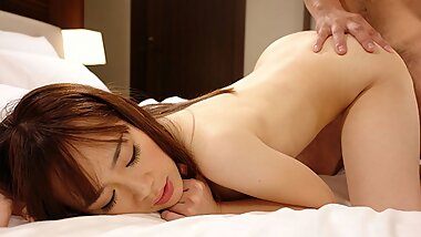 Japanese chick with small tits, Minami Kobayashi likes sex,